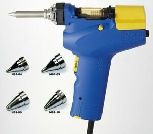 Hakko Fr 301 Desoldering Tool With Four Extra Nozzles n61 04 05 09 And 10