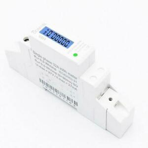Lcd Digital Single Phase Din Rail Electricity Power Consumption Energy Meter Kwh