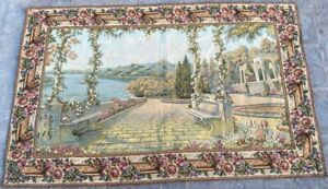 16687 Vintage French Pictorial Tapestry Amazing Wall Hanging Home Decor 3x5 Ft