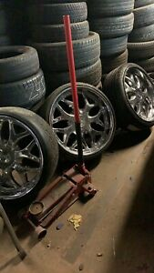 24 Inch Rims And Tires Chrome With New 2752524 N Front And 3052524 N Da Back