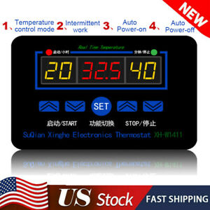 10a 12 220v Electronic Digital Temperature Controller Thermostat Control Switch