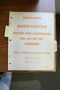 Massey Ferguson 70 80 90 Combine Motor And Accessories Parts Manual