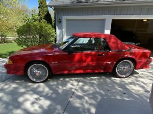 Ford Mustang 87 93 Logo Red Convertible Top Fox Body