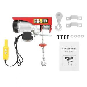 Electric Hoist Ac 110v 1050w Electric Winch Remote Control Cable Lifting Crane