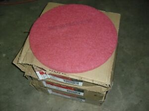 15 Ea 3m 5100 Floor Buffing Buffer Pads 19 Red 175 600 Rpm s