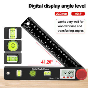0 360 Electronic Digital Lcd Protractor Inclinometer Spirit Level Angle Finder