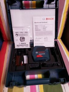 Bosch Self leveling Cross line Red Beam Laser Level Gll 55 Used