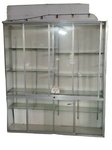 Glass Store Display Showcase Glass Doors Shelves 83x69 5x19 In Pickup Only