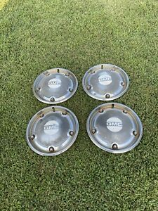 Vintage Gmc Hubcaps Set Of 4 15 Wheel In Used Condition