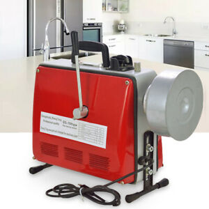 Electric Snake Sewer 3 4 6 500w Drain Cleaner Sectional Pipe Cleaning Machine