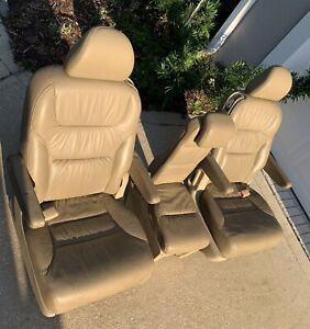 2008 Honda Odyssey Exl Tan Leather 2nd Row Seats Good Condition
