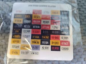 New Listingdecals 36 Ford License Plates 1936 Project Parts Diorama Hot Rat Rod