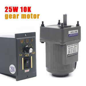 25w Ac110v Gear Motor Electric Motor Variable Speed Controller 1 10 10k 0 135rpm