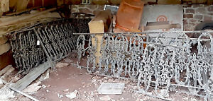 Victorian Fence Porch Gate Garden Architectural Salvage Wrought Iron 50ft Avail