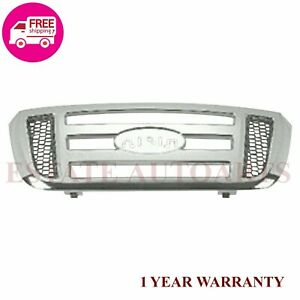 New Ford Ranger Front Grille Chrome Shell For 2006 2011 6l5z8200aaa Fo1200474