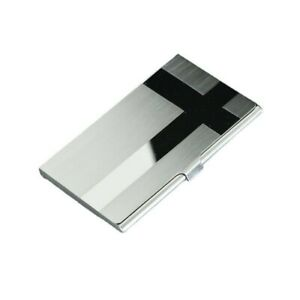 Business Card Holder Name Card Wallet Case Organizer With Magnetic Closure silve