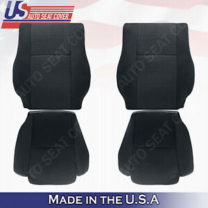 Front Driver Passenger Black Cloth Seat Covers Fits 2007 To 2012 Toyota Tundra