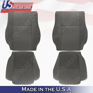 For 2007 To 2012 Toyota Tundra Sr5 Front Driver Passenger Cloth Covers In Gray