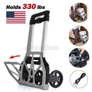 330lbs Cart Folding Dolly Collapsible Trolley Push Hand Truck Moving Warehouse