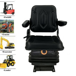 Lawn Garden Slidable Tractor Seat With Armrest Riding Mower Seat Suspension Seat