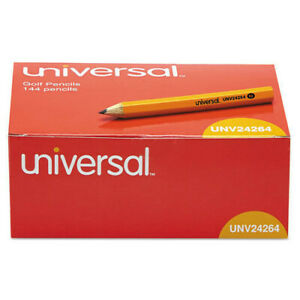 Universal 24264 144 bx Hb 2 Golf And Pew Pencil Black Lead yellow Barrel New