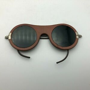 Rare Steampunk Green Lens Unusual Frame Welding Safety Glasses Baush Lomb W5