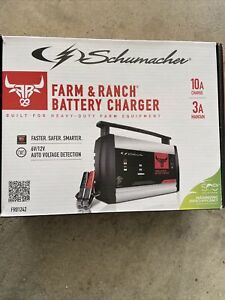 Schumacher Fr01242 Farm Ranch Battery Charger 10a Charge 3a Maintain
