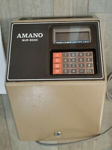 Amano Mjr 8000 Electronic Time Clock Payroll Time Recorder Plus Extras