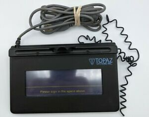Topaz System Usb Lcd Wired Signature Pad Read Model Unknown As is
