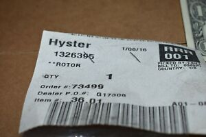 Hyster New Fork Lift Part 1326395 Rotor