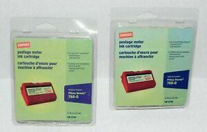 Staples Postage Meter Ink Cartridge 769 0 For Pitney Bowes Lot Of 2