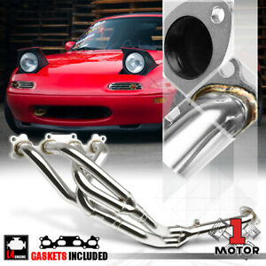 Stainless Steel 4 2 1 Exhaust Header Manifold For 90 93 Miata Mx5 1 6 4cyl B6ze