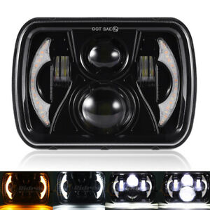 For Toyota Pickup Truck 7x6 5x7 Sealed Beam Halo Drl Led Headlight With H4 Bulb Fits 1989 Pontiac Firebird