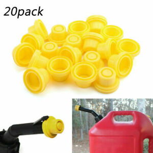 20x Replacement Yellow Spout Cap Top Fit For Fuel Gas Can Blitz 900302 900092 Ue