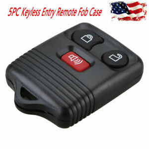 5pc Control 3 Button Fob Keyless Cover Key Replace Remote For Ford Shell Case