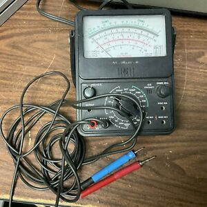 Vintage Radio Shack Micronta 22 210 Multimeter Ac Dc Ohms Tested Works W cables