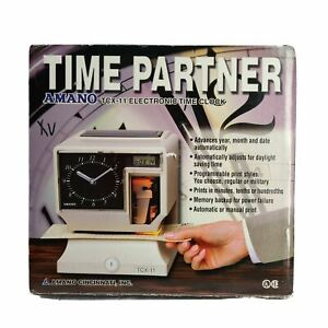 Amano Electronic Time Clock recorder Tcx 11 Time Partner