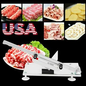 Adjustable Manual Frozen Meat Food Slicer Stainless Steel Mutton Beef Cutter Bbq
