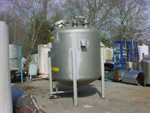 1000 Gallon Lined Stainless Steel Pressure Tank Fv 30 Psi