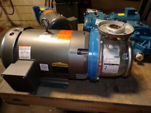 New Goulds 1 1 2 X 2 1 2 6 End Suction Stainless Centrifugal Pump 7 5 Hp