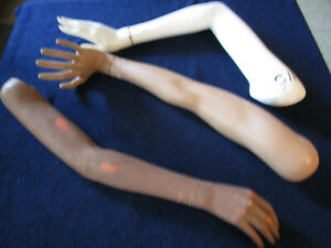 Vintage Female Mannequin Arms With Hands Misc Arms W Hands Halloween