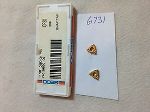 10 New Seco 11 Nr1 0iso g1 Threading Carbide Inserts Grade P30 g731