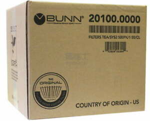 Filters Coffee Tea Paper Commercial Filters 500ct Bunn