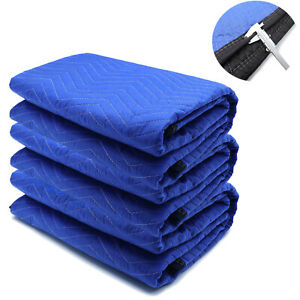 72x80 3pcs Extra Thick Furniture Moving Packing Blanket For Shipping Furniture P