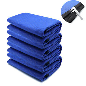 72x80 4pcs Extra Thick Furniture Moving Packing Blanket For Shipping Furniture P