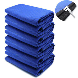 72x80 5pcs Extra Thick Furniture Moving Packing Blanket For Shipping Furniture P