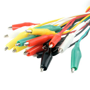 21 Crocodile Cable Alligator Clips Test Leads Electrical Testing Wires 10pcs 7