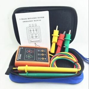 Sm852b 3 Phase Sequence Meter Presence Rotation Tester Phase Indicator