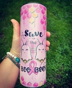 Custom Breast Cancer Awareness Tumbler For Her Gifts For Her $25.00
