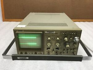 Leader Two Channel Oscilloscope 100 Mhz 1100 W power Cable Power Tested Only